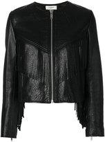 Etoile Isabel Marant Étoile fringe jacket - women - Silk/Lamb Skin/Polyester/Zinc - 36