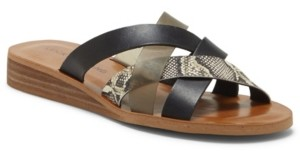 Lucky Brand Women's Hallisa Strappy Slide Sandals Women's Shoes