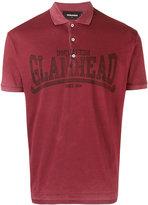 DSQUARED2 Glamhead print polo shirt
