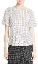 Kate Spade Women's Pin Dot Pintuck Top