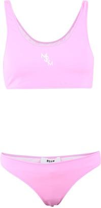 MSGM Logo Print Two-Piece Bikini