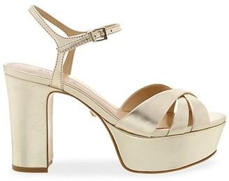 Schutz Keefa Leather Platform Sandals