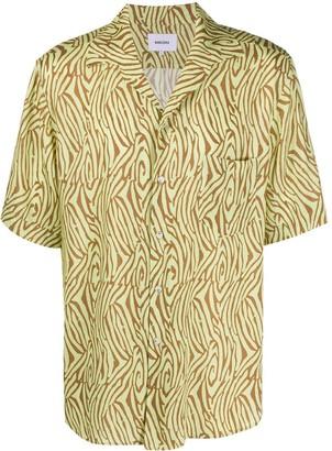 Nanushka Neon Zebra bowling shirt