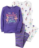 Carter's Baby Girl Graphic Tees & Pants Pajama Set