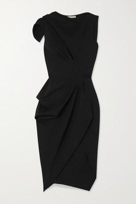 Maticevski Connector Cutout Draped Cady Dress - Black