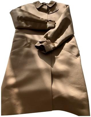Louis Vuitton Camel Silk Trench Coat for Women