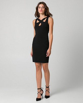 Le Château Knit Cutout Neck Banded Dress