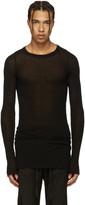 Rick Owens Black Ribbed T-shirt