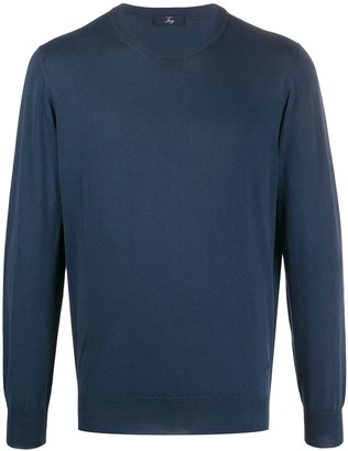 Fay Cotton Crew Neck Jumper