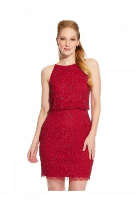 Hailey Logan Short Beaded Cocktail Dress