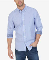 Nautica Men's Big & Tall Pinstripe Anchor-Print Shirt