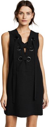 ENGLISH FACTORY Lace Up Front Dress