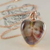 Otis Jaxon Silver Jewellery Rose Gold Vintage Heart Locket Necklace