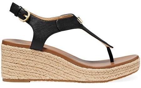 MICHAEL Michael Kors Laney Leather Espadrille Thong Sandals