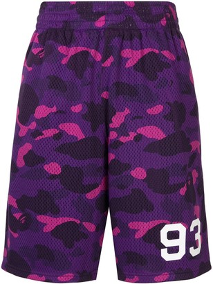 A Bathing Ape Camouflage Print Track Shorts