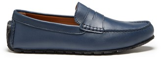 Hugs & Co Tyre Sole Penny Driving Loafers French Navy Leather