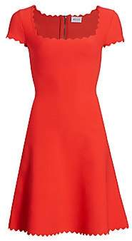 Milly Women's Scalloped Fit-&-Flare Dress