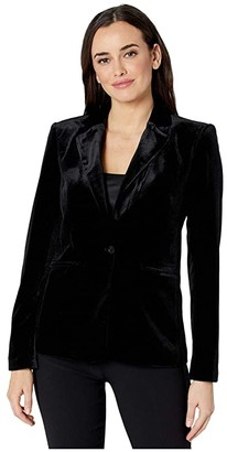 Calvin Klein One-Button Velvet Jacket