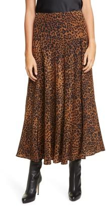 Lafayette 148 New York Elba Animal Print Silk Skirt