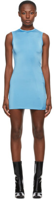 Georgia Alice SSENSE Exclusive Blue Twisted Mini Dress