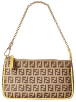Fendi Logo Print Purse Shoulder Handbags