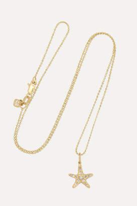 Sydney Evan Small Starfish 14-karat Gold Diamond Necklace