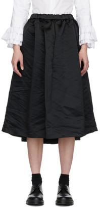 Comme des Garçons Comme des Garçons Black Satin Skirt