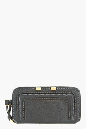 Chloé Black leather Marcie Long Zipped Wallet