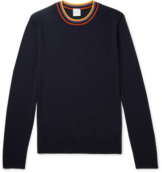 Paul Smith Slim-Fit Striped Merino Wool Sweater
