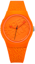 Superdry SYG169O Unisex Urban Silicone Strap Watch, Orange
