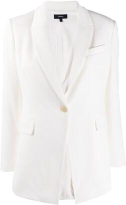 Theory V-neck tailored blazer