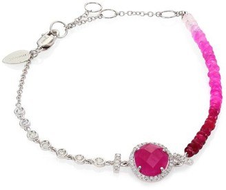 Meira T Diamond, Ruby & 14K White Gold Bracelet