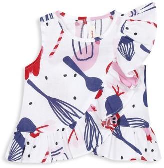 Catimini Baby's & Little Girl's Printed Ruffle Top