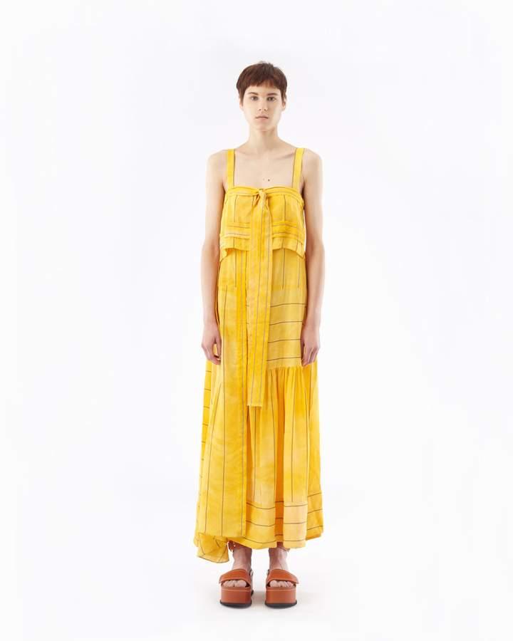 3.1 Phillip Lim Striped Tie-Front Gown