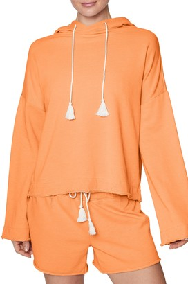 Betsey Johnson Tasseled Kimono Sleeve Hoodie