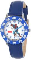 Spiderman Marvel Comics Kids' W000108 Stainless Steel Time Teacher Watch