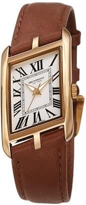 Bruno Magli Sofia 1421 Stainless Steel & Italian Leather-Strap Watch