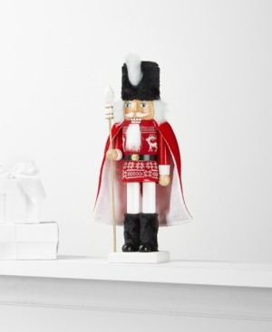 Holiday Lane Soldier with Sweater & Cape Nutcracker, Created for Macy's