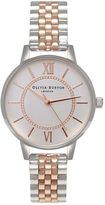 Olivia Burton **Wonderland Silver and Rose Watch