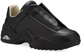 Maison Margiela Men's New Future Hidden-Lace Leather Sneakers