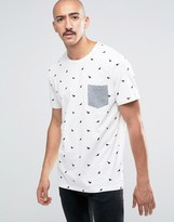 ONLY & SONS T-Shirt With Bird Print and Pocket