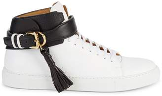 Buscemi Logo Leather High-Top Sneakers