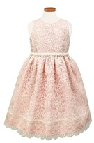 Sorbet Toddler Girl's Sleeveless Lace Dress