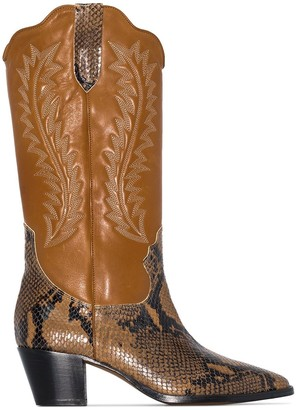 Paris Texas Western-Inspired Mid-Calf Boots
