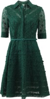 Oscar de la Renta Eyelet And Lace Shirt Dress