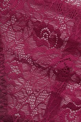 Coco de Mer Marilyn Cutout Lace Thong Bodysuit - Purple