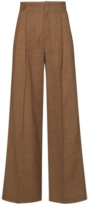 Chloé Houndstooth Flared Trousers