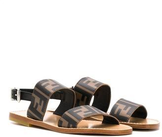 Fendi Monogram Print Sandals