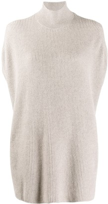Agnona Sleeveless Cashmere Knit Jumper