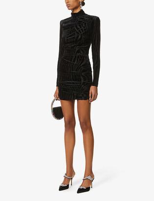Alex Perry Blair zebra-print jersey mini dress